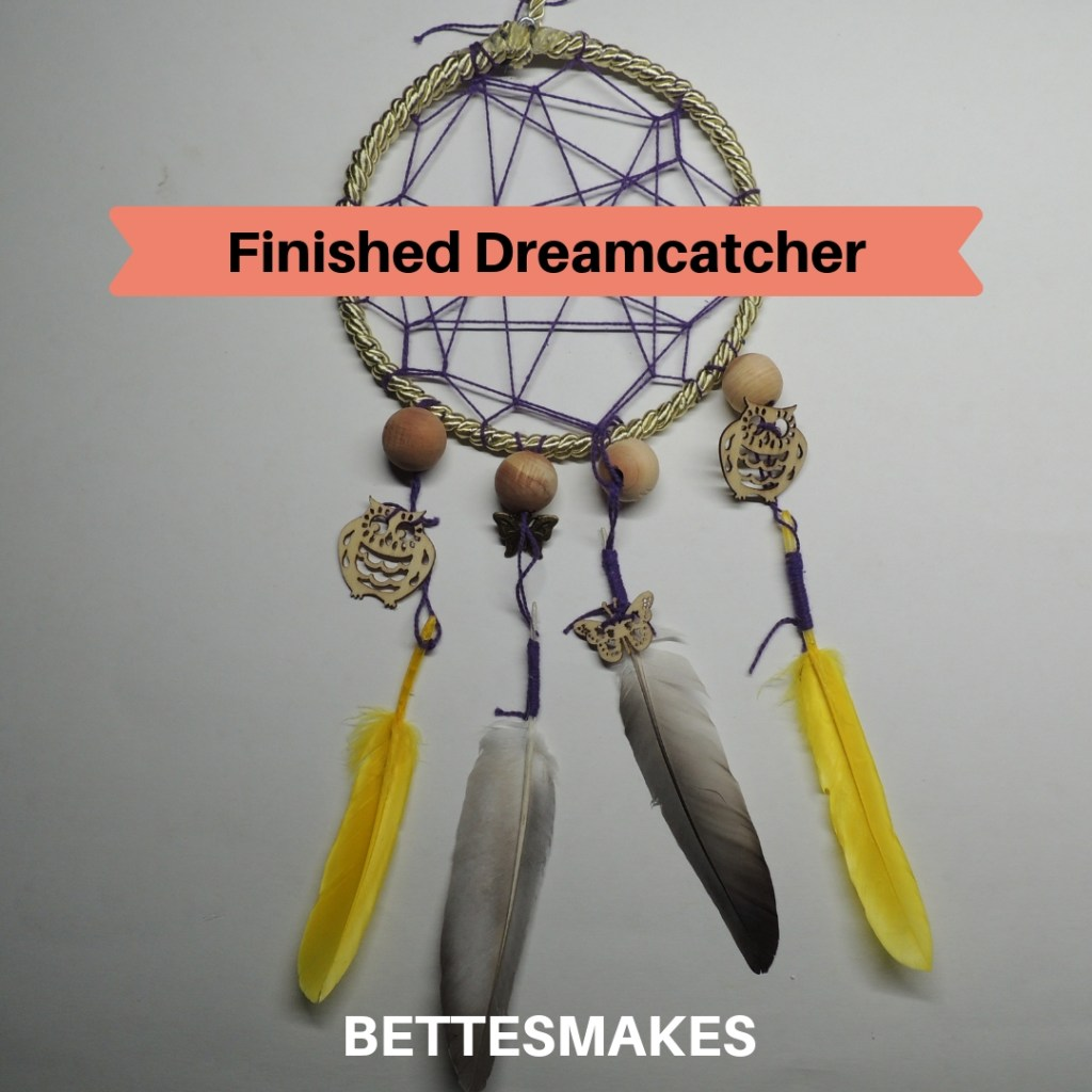 Finished Personalized Dreamcatcher