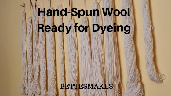 Hand-Spun Wool Ready for Dyeing