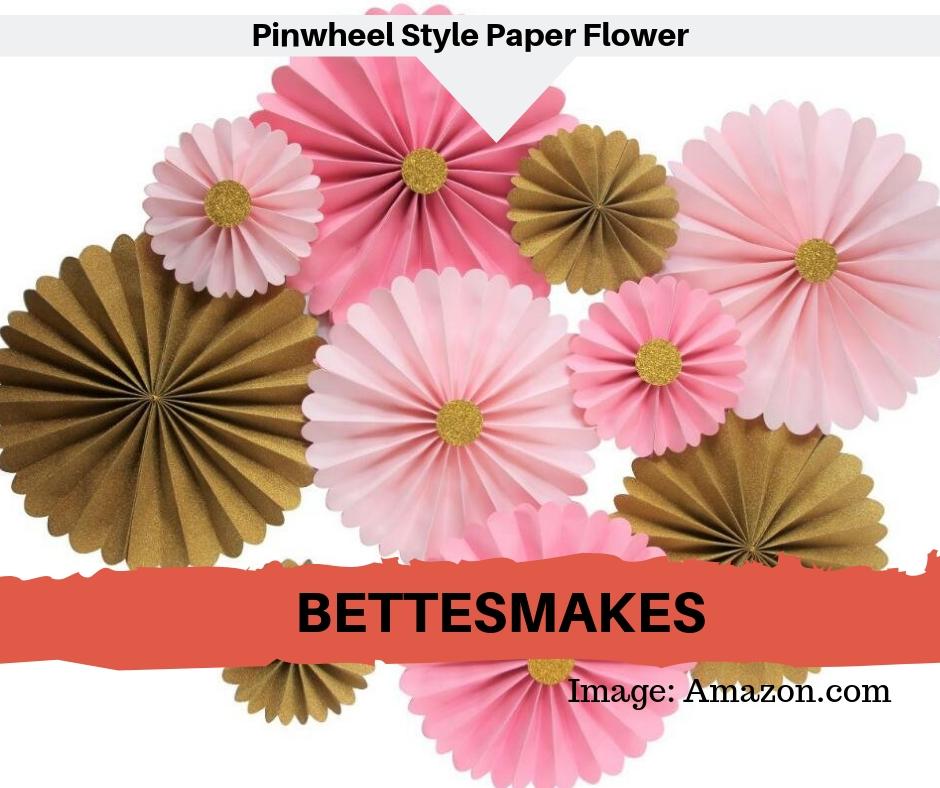Pinwheel Style Paper Flower