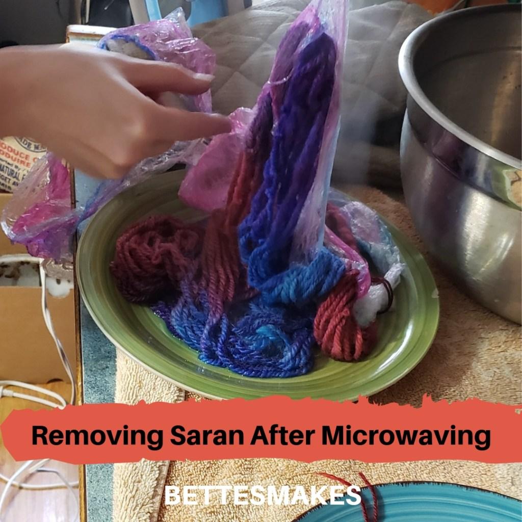 Removing Saran After Microwaving