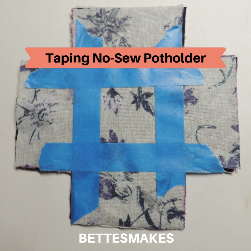 Taping No-Sew Potholder