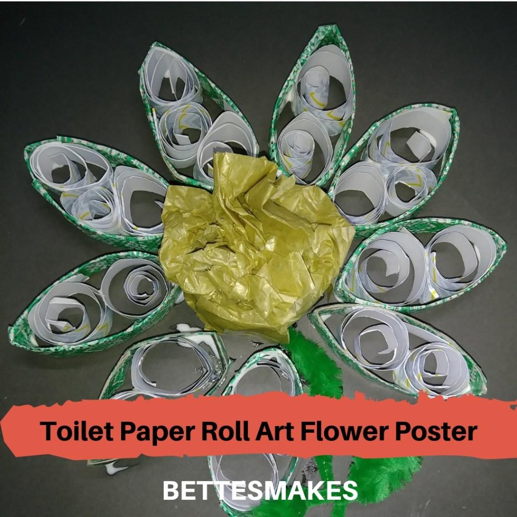 Toilet Paper Roll Art Flower Poster