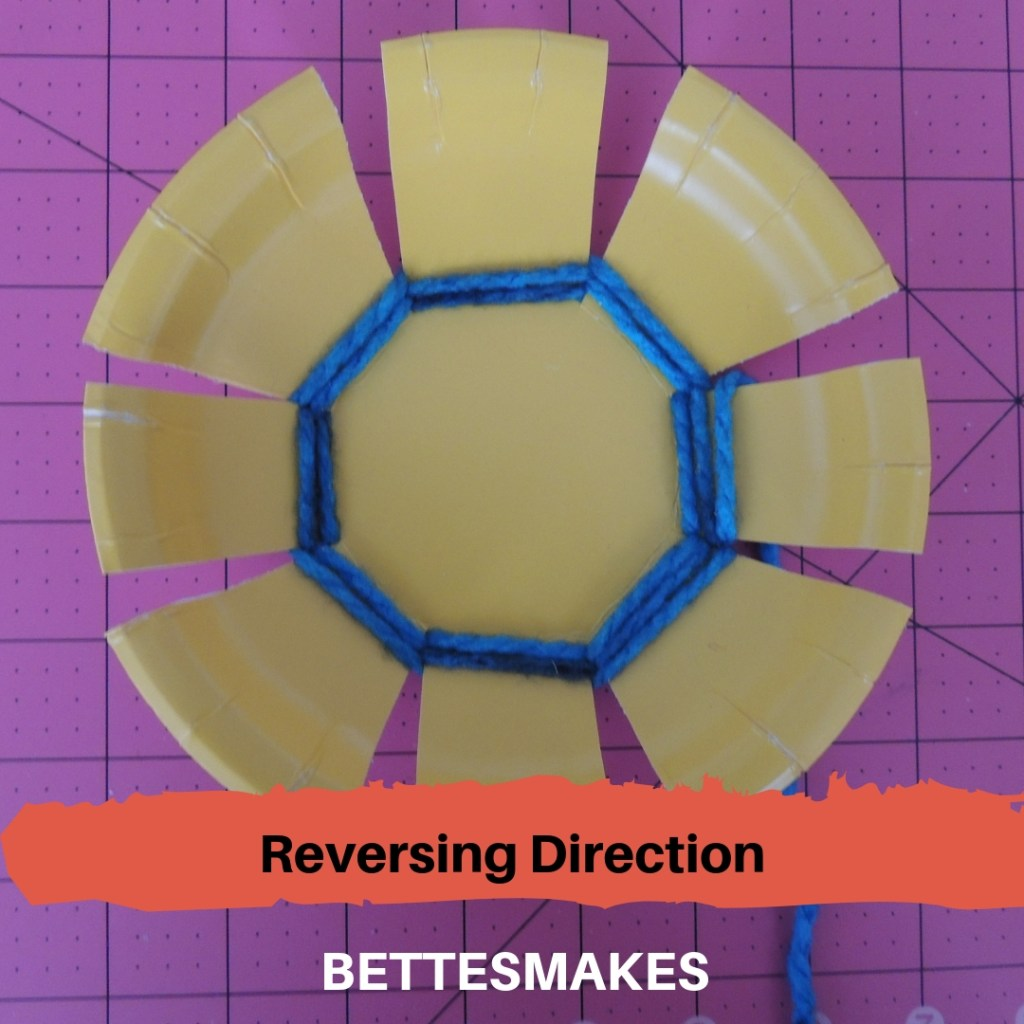 Paper Plate Weaving - reversing direction
