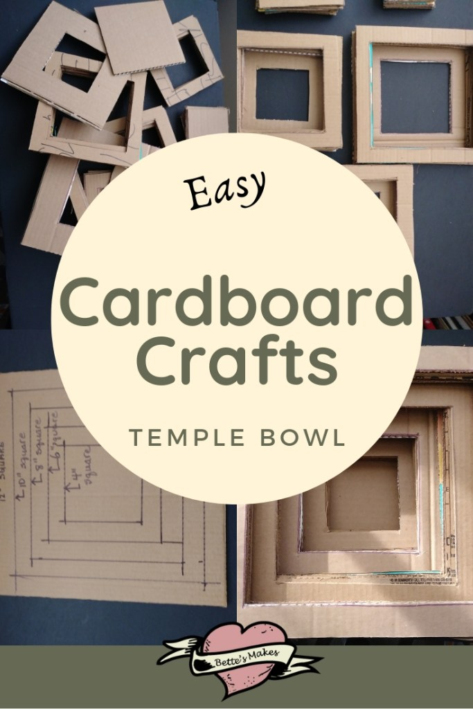 Easy Cardboard Craft Temple Bowl