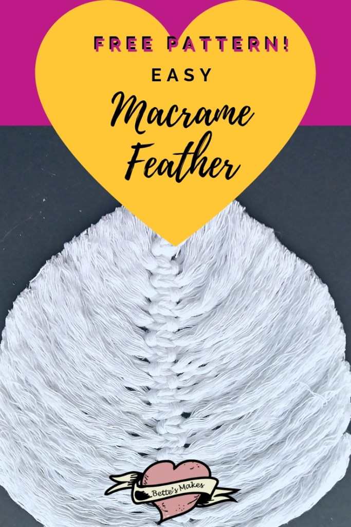 Easy Macrame Feather with free pattern!