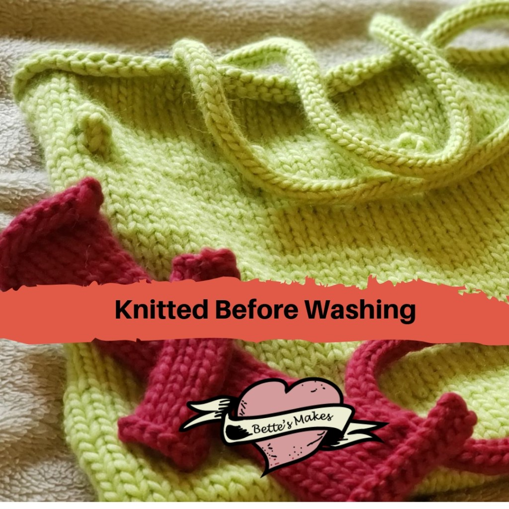 Knitted Project Before Washing