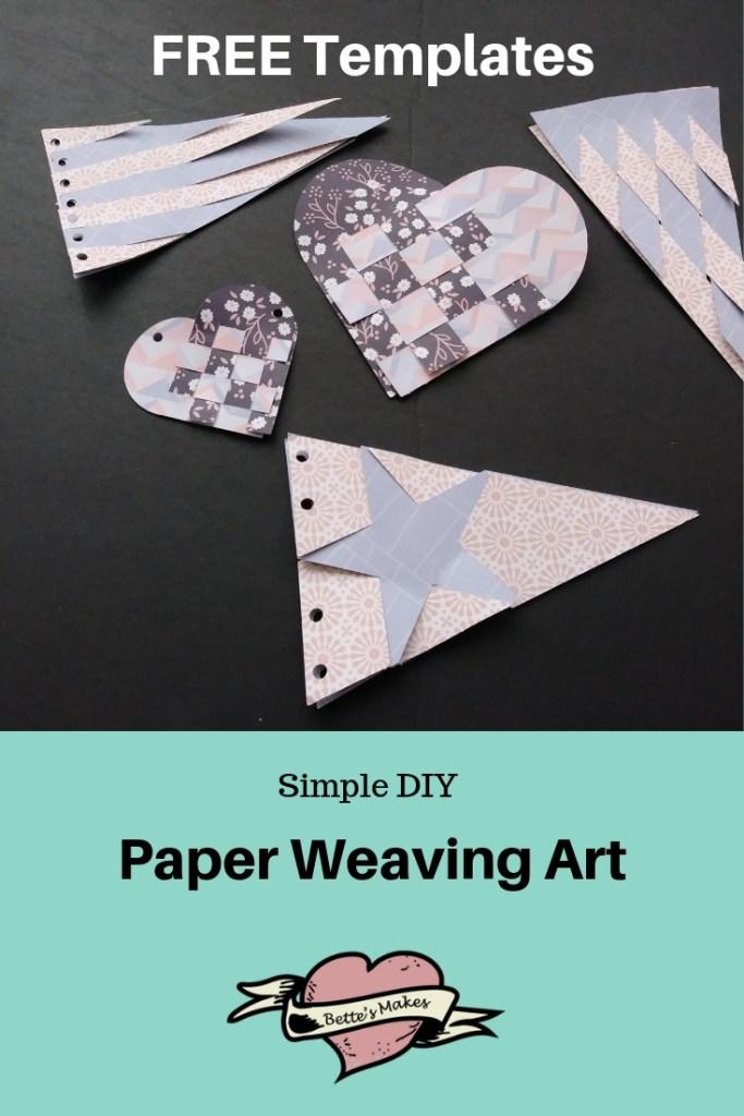 Simple DIY Paper Weaving Art