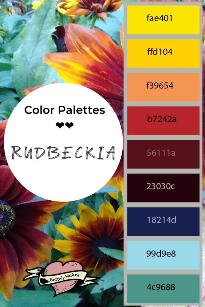 Color Palettes - Rudbeckia - BettesMakes.com