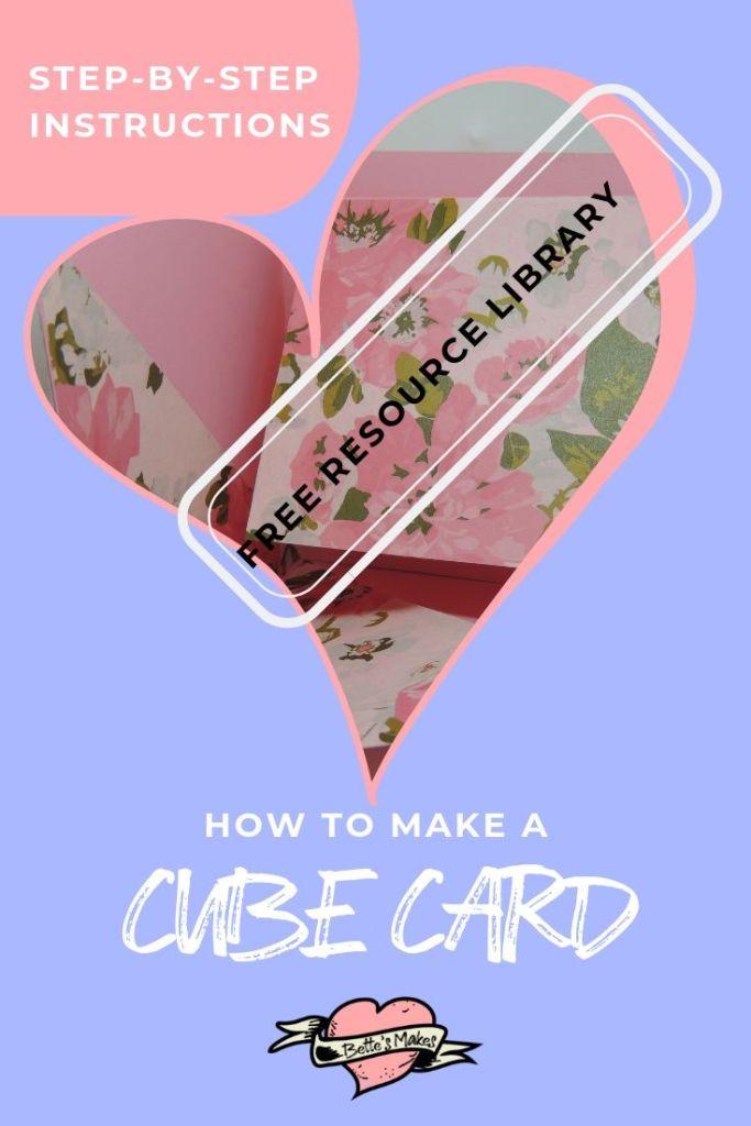 Handmade card - the cube card - BettesMakes.com