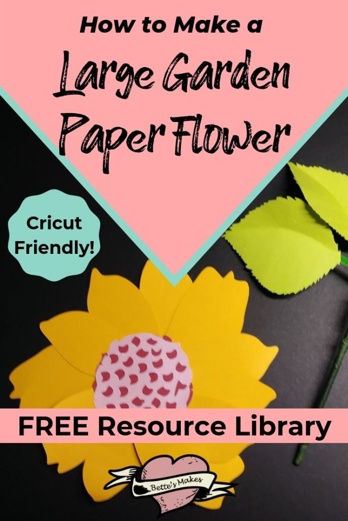 How to make a larege garden paper flower - BettesMakes.com