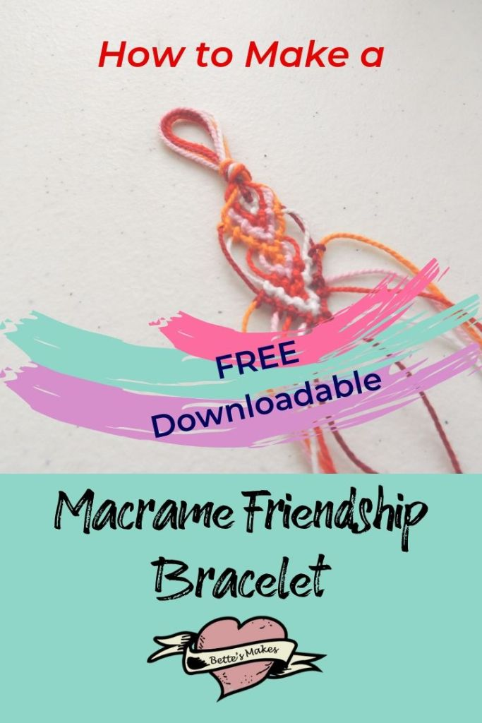 How to Make a Gorgeous Macrame Friendship Bracelet - BettesMakes.com