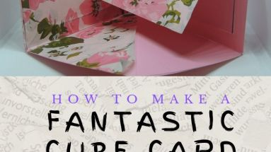 Handmade Cards: How to make a cube card with ease - bettesmakes.com