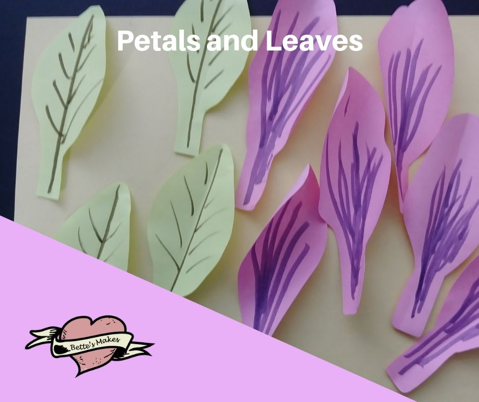 DIY Paper Flower  Lily Petals and Leaves - BettesMakes.com