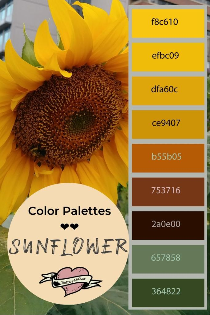 Color Palette Weekly Pin - The Sunflower - BettesMakes.com