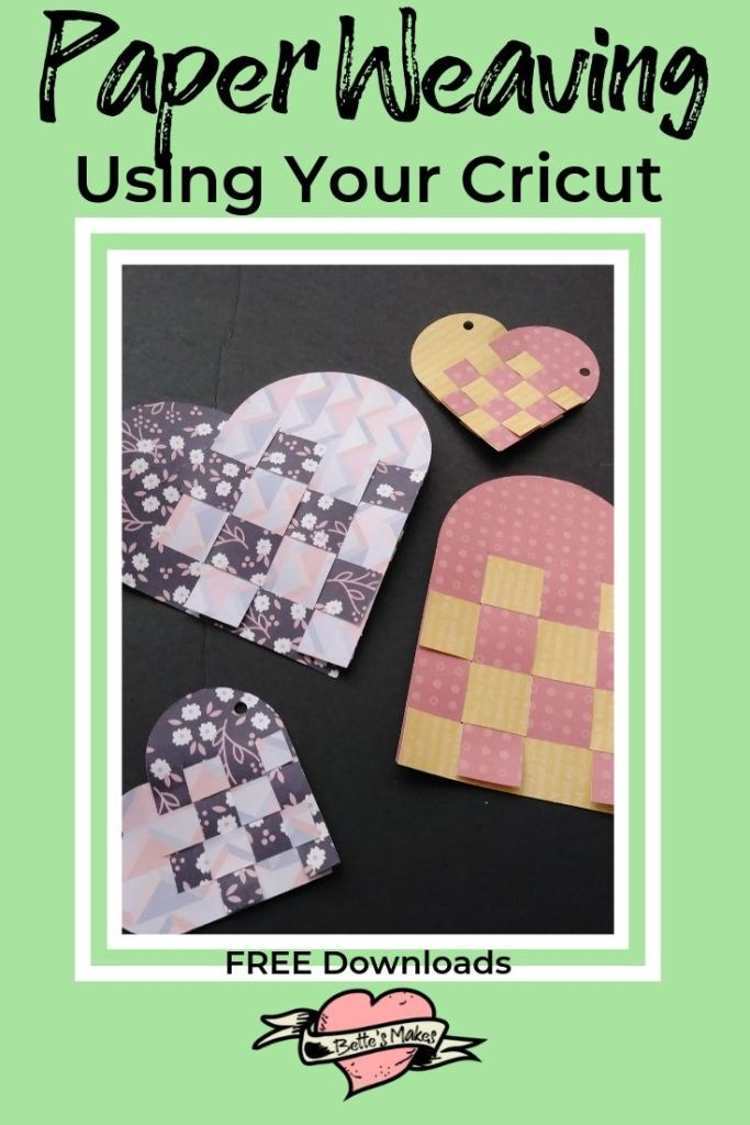 Paper Weaving using your cricut - free templates - BettesMakes.com