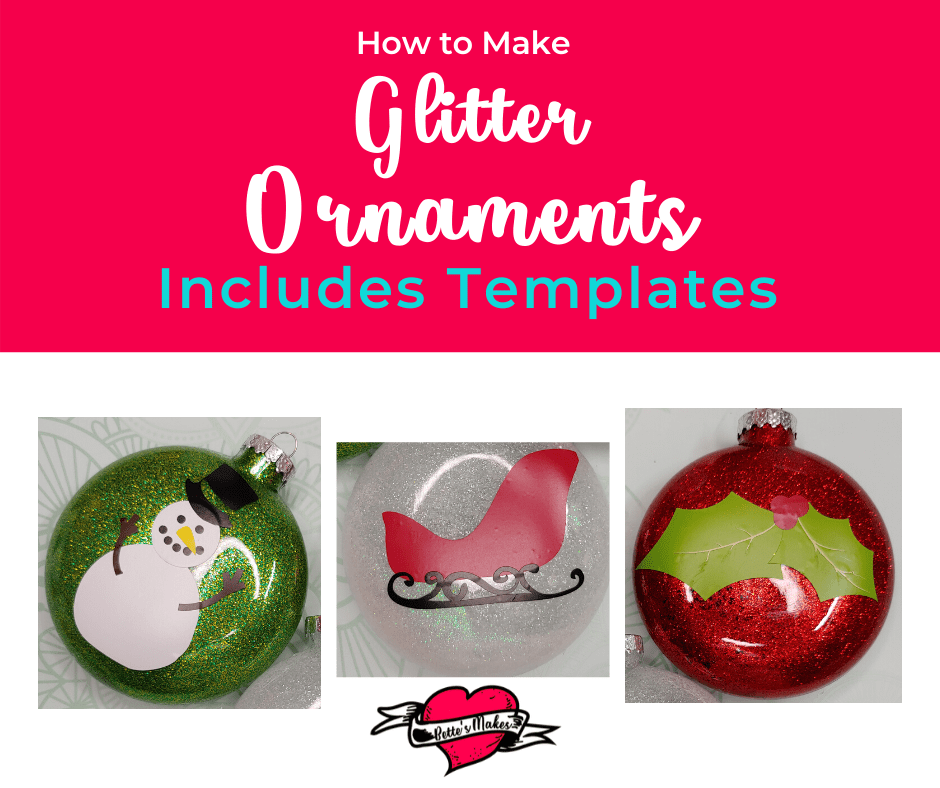 How to make glitter ornaments using your Cricut! These ornaments are so easy to make and they make the perfect DIY Home Decor! #Cricut #DIYhomedecor #Christmas #ornaments