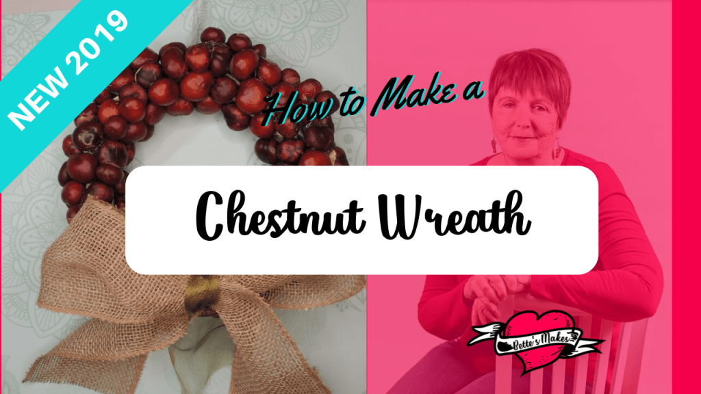 How to Make a Chestnut Wreath tutorial - great for the holiday season and these wreaths look so professional! Great DIY Home Decor project - just use hot glue to get the project started No Cricut required! #wreathing #wreath #thanksgiving #halloween #crafttutorial #cricut