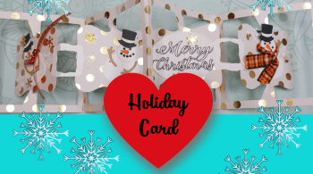 Hoq to Make a Holiday Card - Complex Card that is so easy to make! #Cricut #handmadecard #papercraft