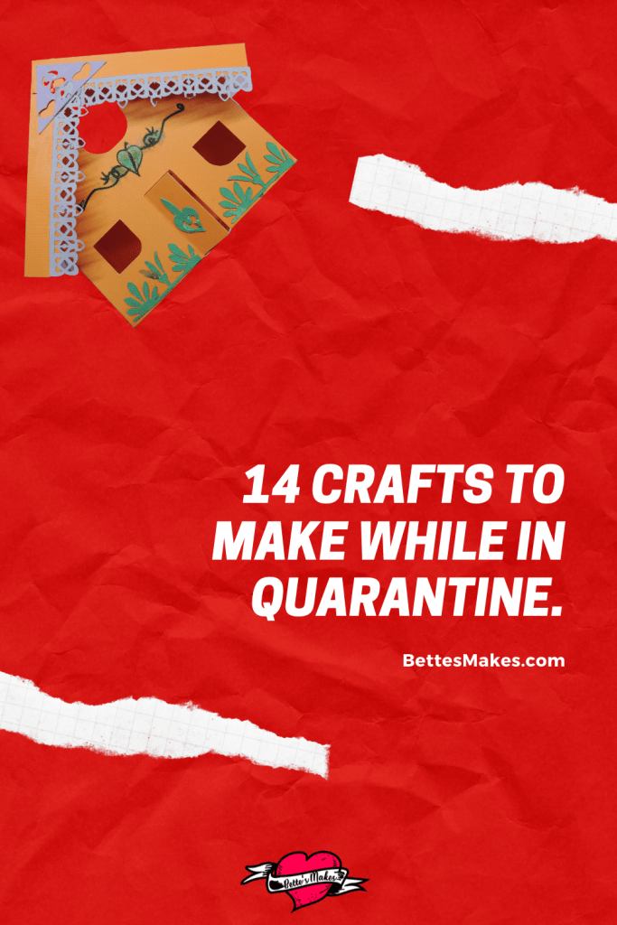 Have you been in quarantine and are trying to find something creative to do? Look no further with these 14 incredible easy but fun craft ideas you can do. Tutorials and templates are provided! #cricut #papercraft #macrame #diyhomedecor