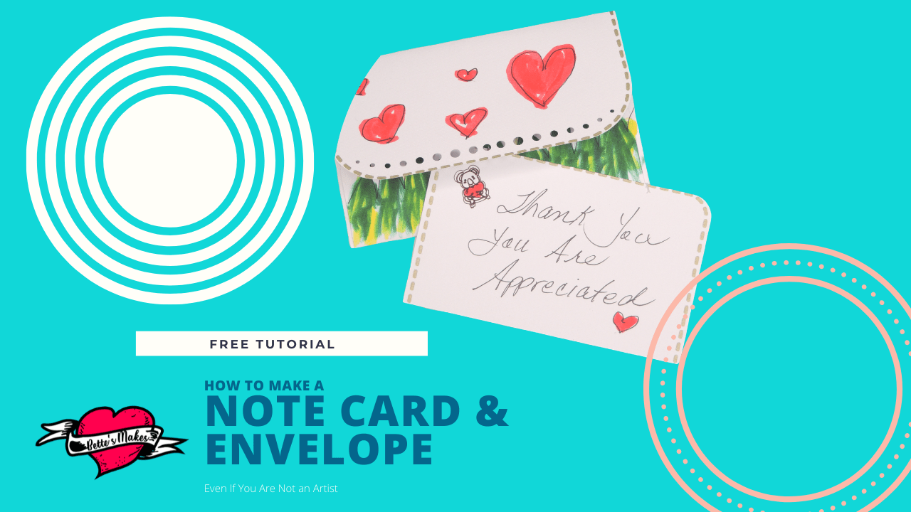 How to Make a Gorgeous Notecard and Envelope Even if You Can't Draw