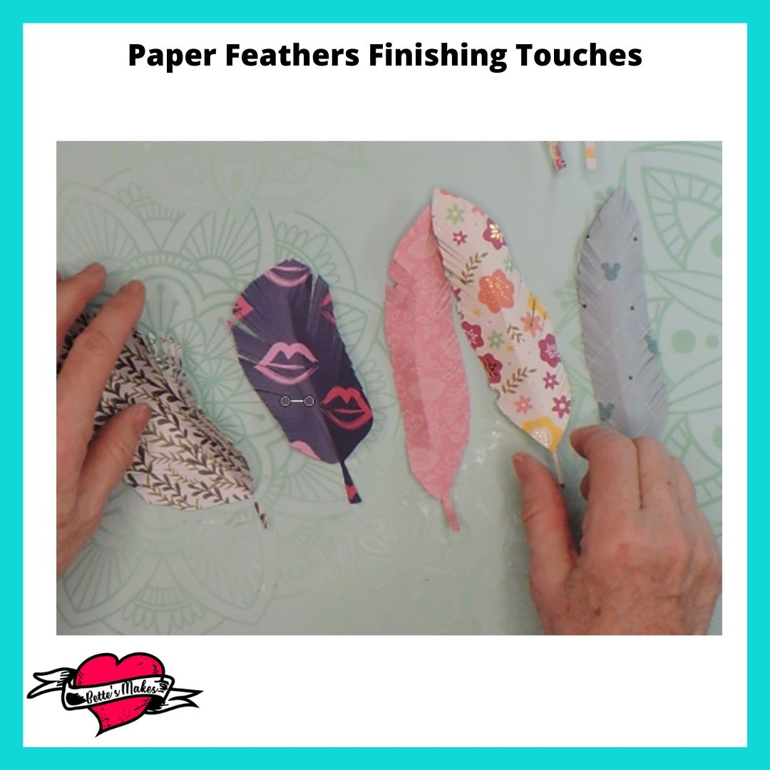 Paper Feather Finishing Touches
