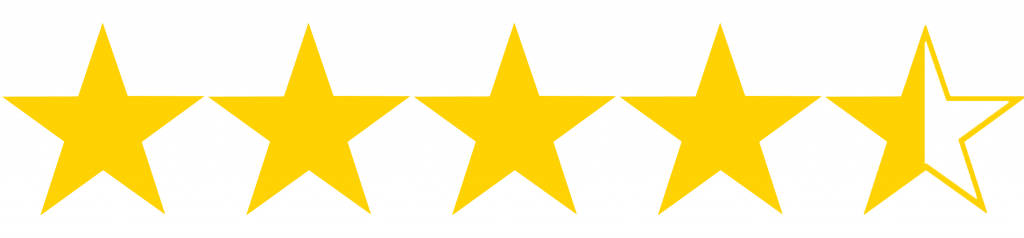 Resultado de imagen para 4.5 out of 5 stars