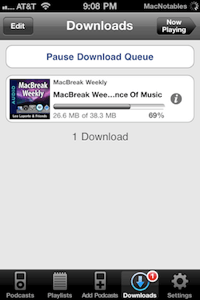 Downcast downloading