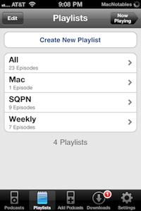 Downcast playlists