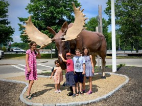 The big moose at the Kennebunk rest stop