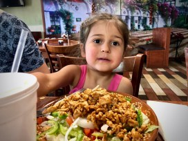 Lucia's big plate at the Mexican restaurant near Fort Campbell
