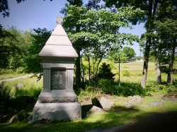 Memorial to the 22nd Mass., one of 25 memorials to Massachusetts units on the battlefield
