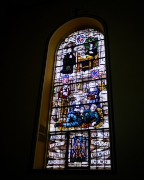 Window of St. Elizabeth Ann Seton in St. Francis Xavier church