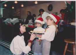 Andreanna at age 8 working at Gaetano's