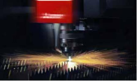Dispositivo laser in azione