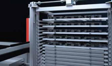 Esempio di magazzino automatico per impianti di taglio laser