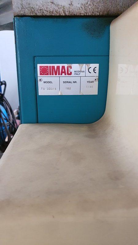 Scantronatrice IMAC usata ad angolo fisso - Betto Macchine srl