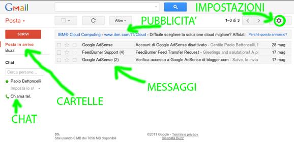 Interfaccia Gmail