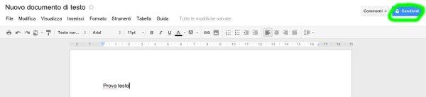 Condivisione file Google