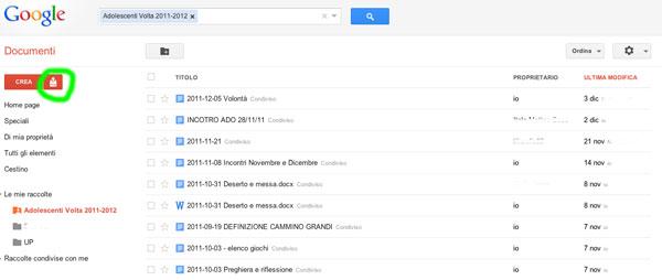 Upload Google Docs
