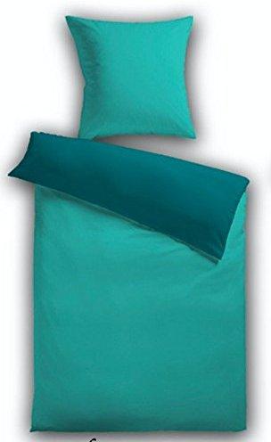 Traumhafte Bettwsche aus Fleece  trkis 155x200 von
