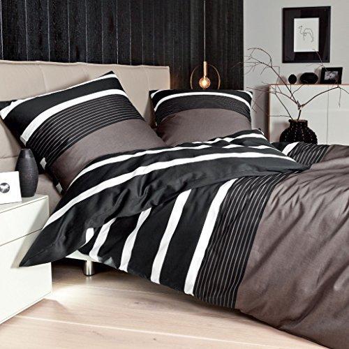 Schne Bettwsche aus Satin  schwarz 155x220 von Janine