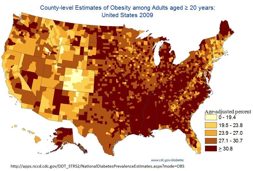 Obesity Data Rates Increasing