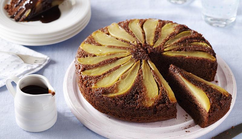 Chocolate Pear Upside Down Cake Recipe Betty Crocker