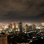 Jakarta skyline at night