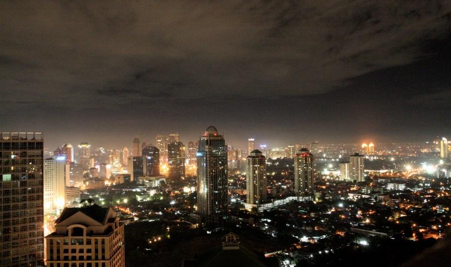 Jakarta skyline at night