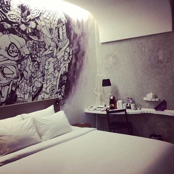 Artotel Thamrin is cheap (about $40 a night) and awesome. And totally instagrammable #jakarta