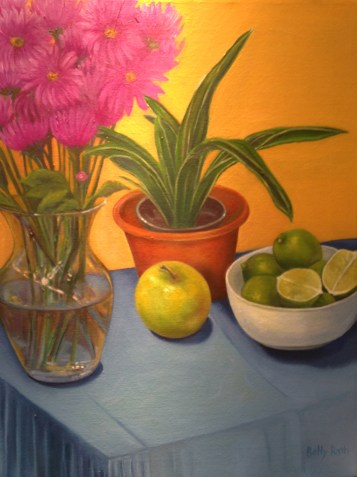 """Still Life with Apple,"" Oil on Canvas, 24""x18"""
