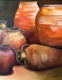"""Urns,"" Oil on Canvas, 16""x20"" -SOLD"