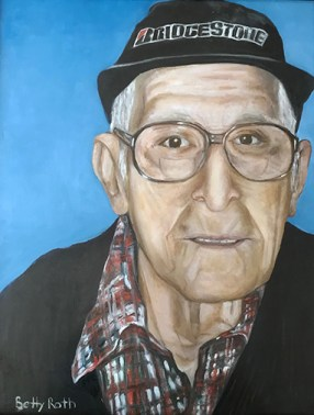 """Nathan Roth, 100 Years Young,"" Oil on Canvas, 18""x24"" -SOLD"