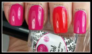 Hot Pink Polish Swatches
